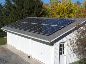 PV panels on garage