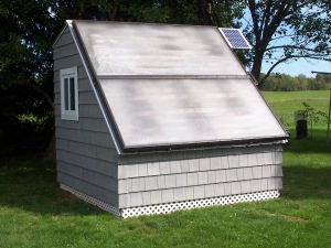 Solar Water Heaters on Shed